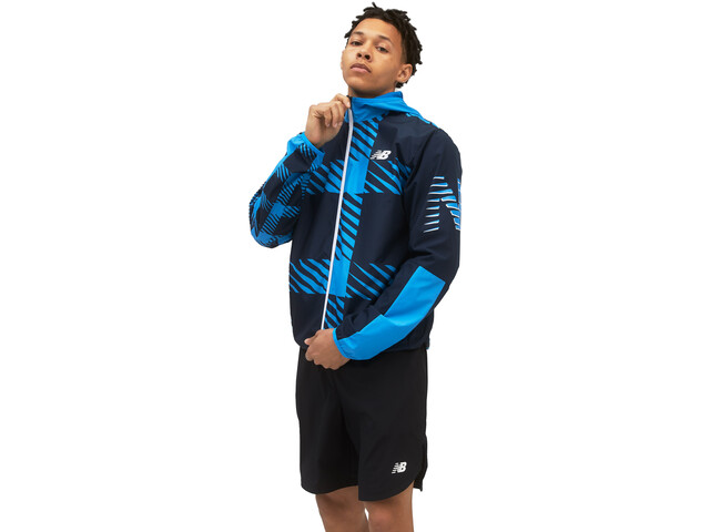New Balance Printed Fast Flight Jacket Men helium blue